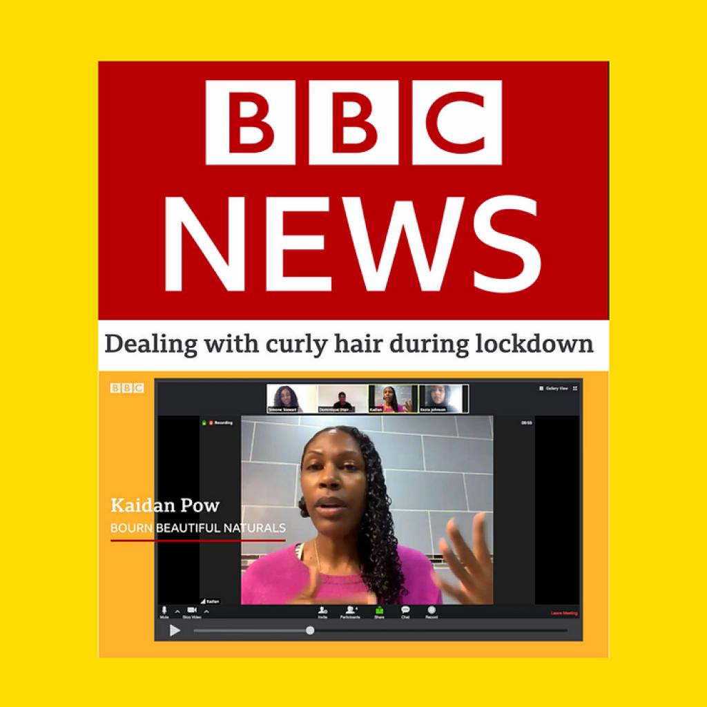 We're in a Lockdown Hair Tutorial on BBC News!